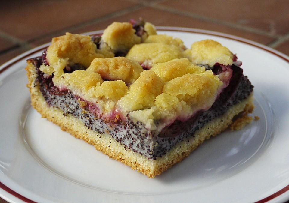 Zwetschgenkuchen Mit Mohnquark Butterstreuseln Von Baumfrau