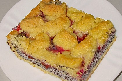 Zwetschgenkuchen mit Mohnquark + Butterstreuseln 15