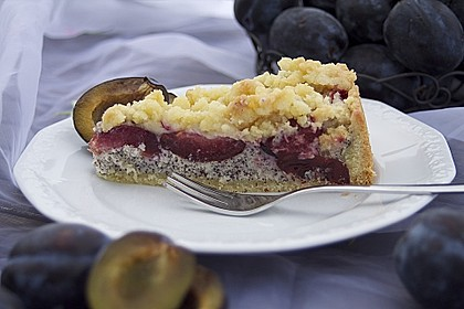 Zwetschgenkuchen mit Mohnquark + Butterstreuseln 2