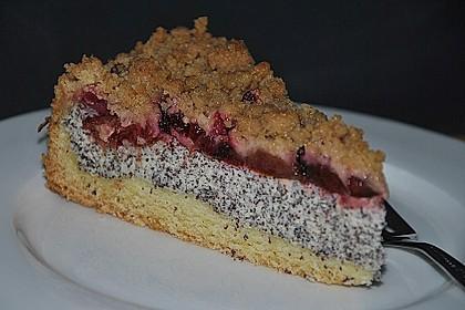 Zwetschgenkuchen mit Mohnquark + Butterstreuseln 5