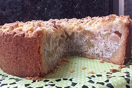 Zwetschgenkuchen mit Mohnquark + Butterstreuseln 9