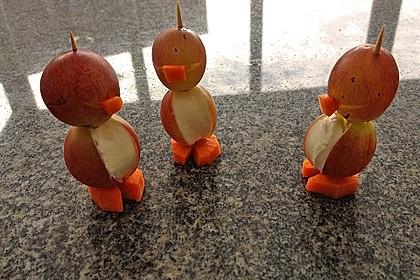 Kleine Pinguine mit Traubenfrack und Karottenfüßchen 73