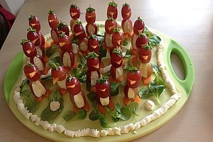 Kleine Pinguine mit Traubenfrack und Karottenfüßchen 38