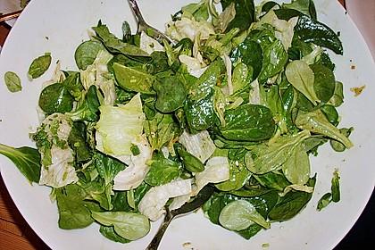 Blattsalat mit Honig-Balsamico-Dressing und Zitrusaroma 1