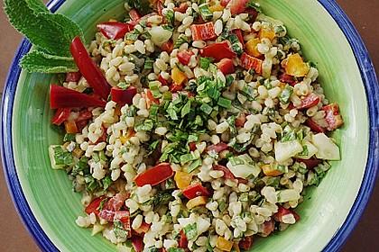 Reissalat mit Borretschcreme