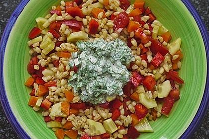 Reissalat mit Borretschcreme 1