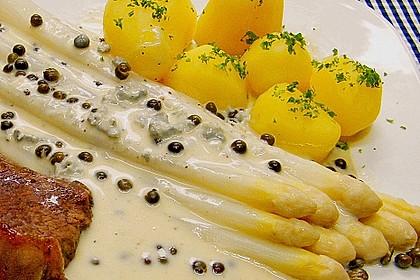 Spargel mit Lammkoteletts und Gorgonzola-Sauce 2