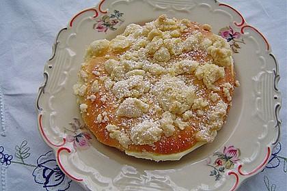 Hefe-Streuselteilchen mit Pudding  und Sahne 2