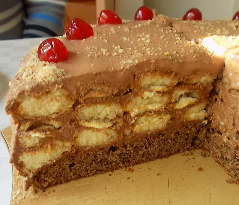 Schokolade Biskotten Torte