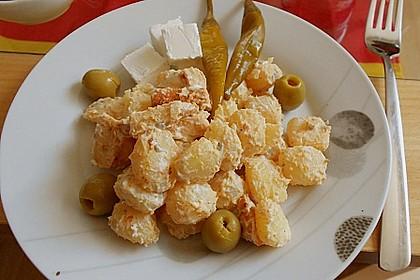 Gyros-Kartoffelsalat mit Tzatziki