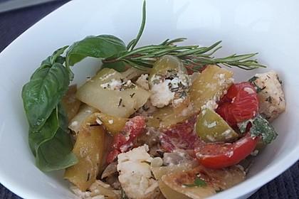 Warmer Sommersalat mit Feta 2
