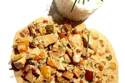 Cremiges Curry-Hühnchen mit Gemüse (Bild)