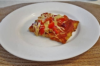 Low Carb Pizzaboden aus Blumenkohl 23