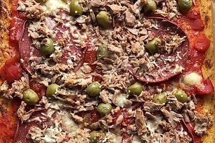 Low Carb Pizzaboden aus Blumenkohl 90