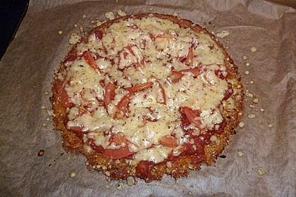 Low Carb Pizzaboden aus Blumenkohl 44