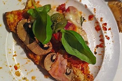 Low Carb Pizzaboden aus Blumenkohl 120