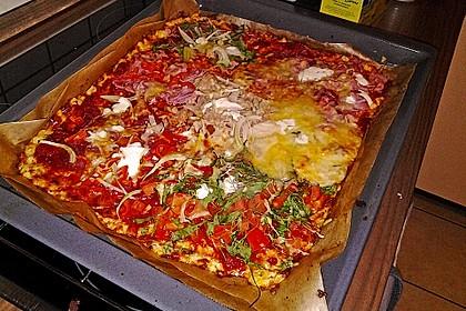 Low Carb Pizzaboden aus Blumenkohl 68