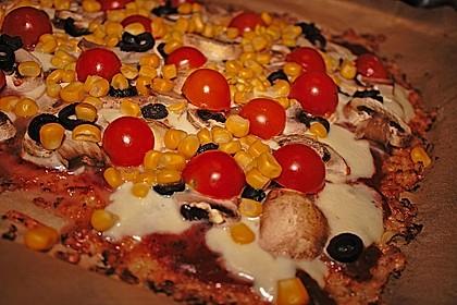 Low Carb Pizzaboden aus Blumenkohl 25