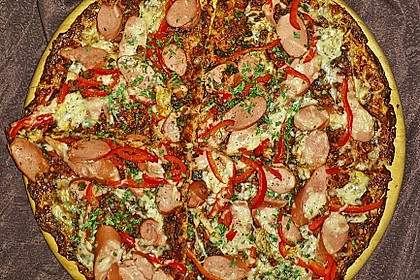 Low Carb Pizzaboden aus Blumenkohl 19