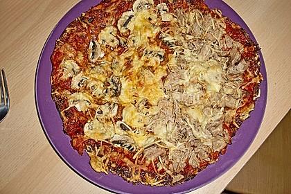 Low Carb Pizzaboden aus Blumenkohl 107