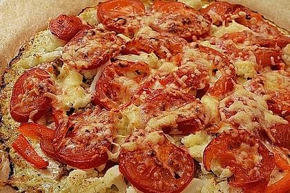 Low Carb Pizzaboden aus Blumenkohl 24