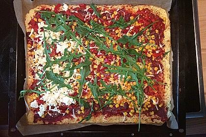 Low Carb Pizzaboden aus Blumenkohl 21