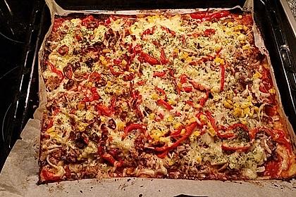 Low Carb Pizzaboden aus Blumenkohl 70