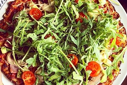 Low Carb Pizzaboden aus Blumenkohl 12