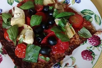 Low Carb Pizzaboden aus Blumenkohl 33