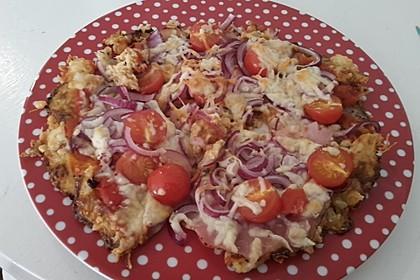 Low Carb Pizzaboden aus Blumenkohl 75