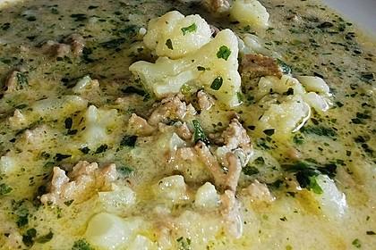Blumenkohl-Käse Suppe nach Odinette (Bild)