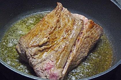 Braten vom Kabierrind - Siedfleisch mit Kräuterkruste 1