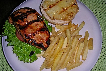 Don Diegos Teriyaki-Chicken & Pineapple-Burger 1