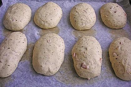 Pizzabrötchen mit Feta-Frischkäse Dip 29