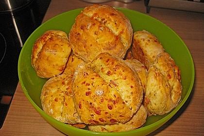 Pizzabrötchen mit Feta-Frischkäse Dip 16