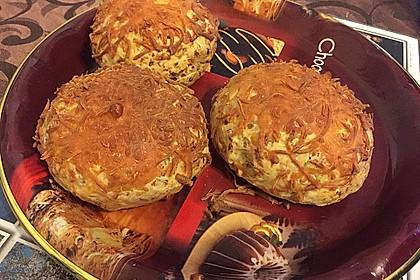 Pizzabrötchen mit Feta-Frischkäse Dip 9