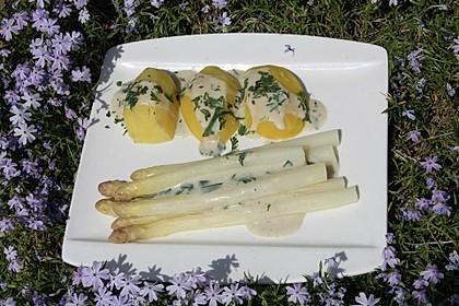 Spargel in Estragonsauce mit Kartoffeln 3