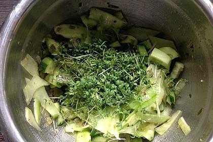Gurken-Kresse-Salat à la Gabi (Bild)