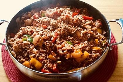 Reis-Hackfleischpfanne mit Paprika 2