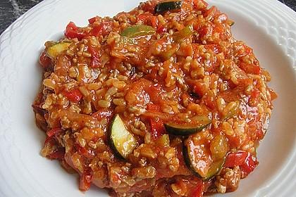 Reis-Hackfleischpfanne mit Paprika 3