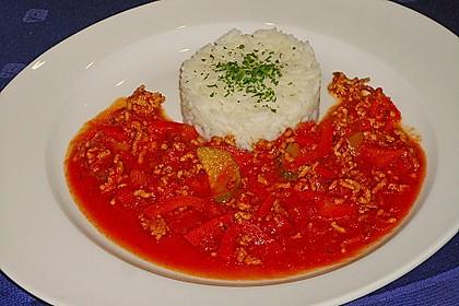 Reis-Hackfleischpfanne mit Paprika 11