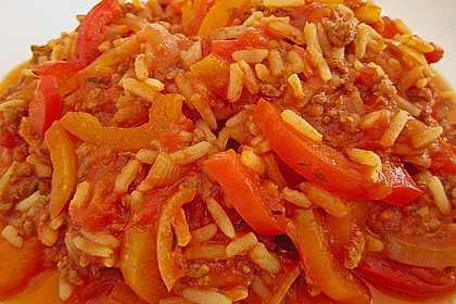 Reis-Hackfleischpfanne mit Paprika 9