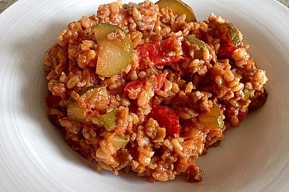 Reis-Hackfleischpfanne mit Paprika 10
