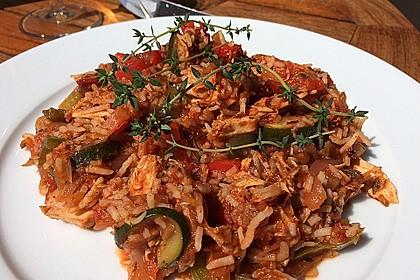 Reis-Hackfleischpfanne mit Paprika 4