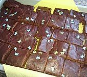 Schokoladen-Zuckerguss für Kuchen, Plätzchen, Dessert (Bild)