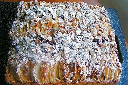 Apfel-Kirschkuchen vom Blech