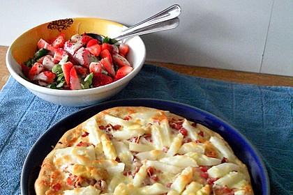Superleckere und schnelle Spargelpizza 2