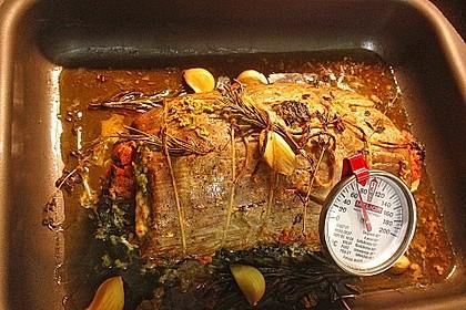 Schweinenacken-Rollbraten mit Spinat-Parmesanfüllung 1