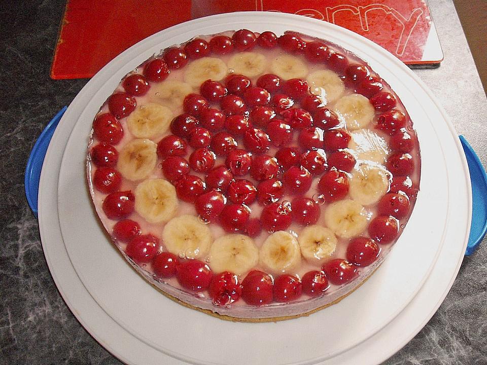 Vegane Kirsch Bananen Torte Von Luzifer1302 Chefkoch De