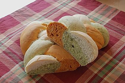 Grillbrot in italienischen Farben 2